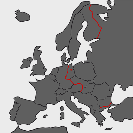 "<p>The ""Iron Curtain"" in Europe</p>"